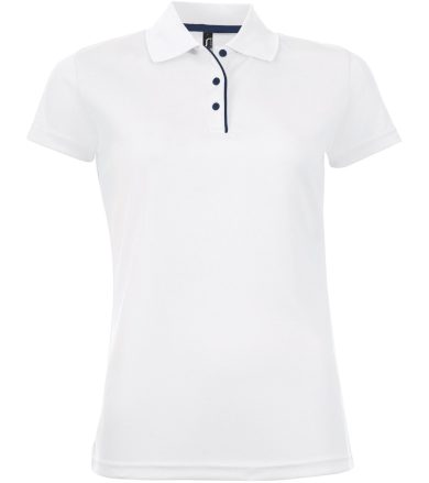 SOĽS Dámské funkční polo triko PERFORMER WOMEN 01179102 Bílá L