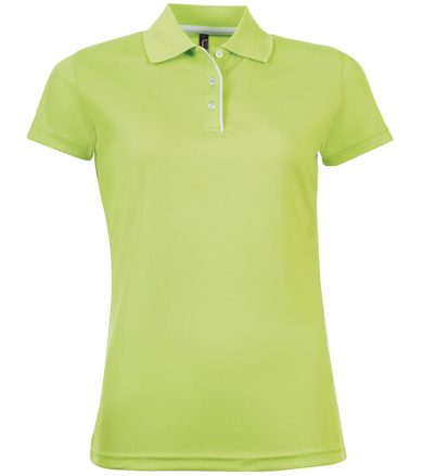 SOĽS Dámské funkční polo triko PERFORMER WOMEN 01179280 Apple green M