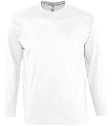 SOĽS Pánské triko s dlouhým rukávem MONARCH 11420102 Bílá 3XL