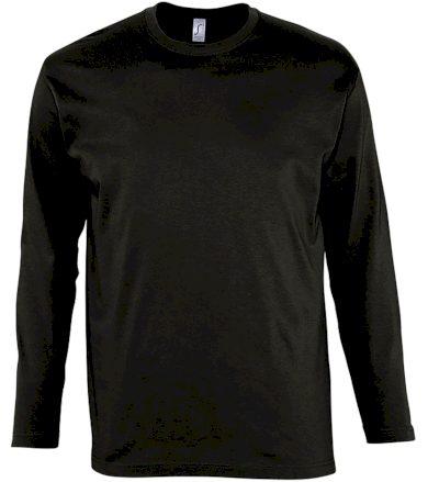 SOĽS Pánské triko s dlouhým rukávem MONARCH 11420309 Deep black 3XL