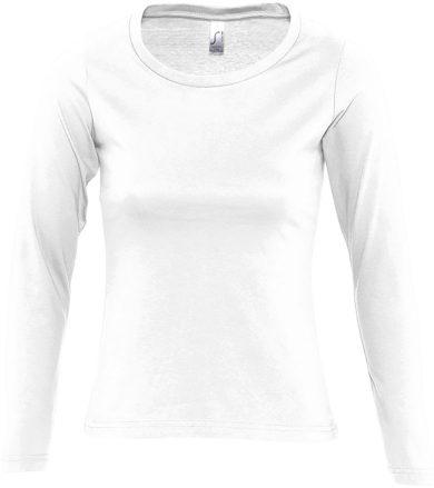 SOĽS Dámské triko s dlouhým rukávem MAJESTIC 11425102 Bílá L