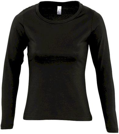 SOĽS Dámské triko s dlouhým rukávem MAJESTIC 11425309 Deep black L