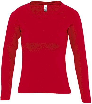 SOĽS Dámské triko s dlouhým rukávem MAJESTIC 11425145 Red L
