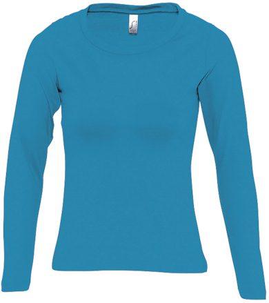 SOĽS Dámské triko s dlouhým rukávem MAJESTIC 11425321 Aqua L