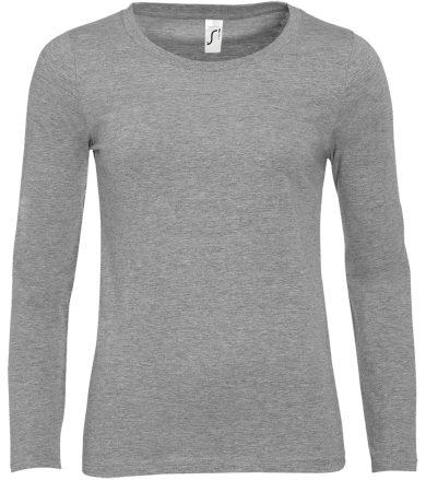 SOĽS Dámské triko s dlouhým rukávem MAJESTIC 11425350 Grey melange L