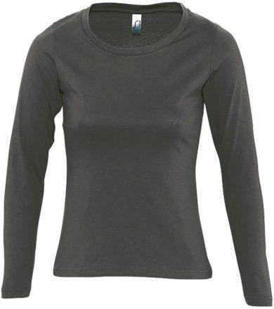 SOĽS Dámské triko s dlouhým rukávem MAJESTIC 11425384 Dark grey L