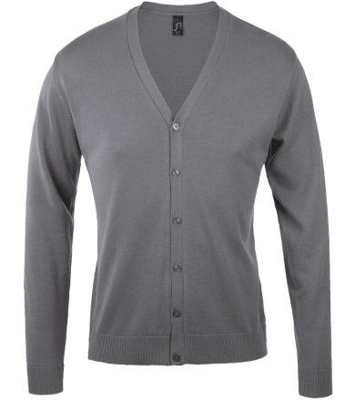 SOĽS Pánský svetr na knoflíčky GOLDEN MEN 90011340 Medium grey 3XL