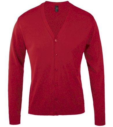 SOĽS Pánský svetr na knoflíčky GOLDEN MEN 90011145 Red 3XL