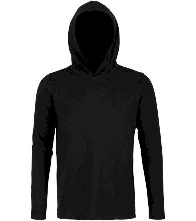 NEOBLU Pánské tričko s kapucí LOUIS MEN 03186309 Deep black S