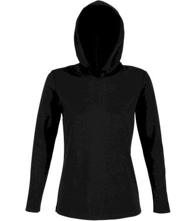 NEOBLU Dámské tričko s kapucí LOUIS WOMEN 03187309 Deep black S