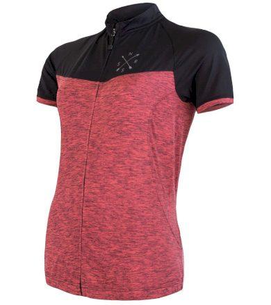 CYKLO MOTION Dámský cyklistický dres 20100059 růžová/černá S