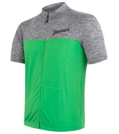 CYKLO MOTION Pánský cyklistický dres 20100048 šedá/zelená M