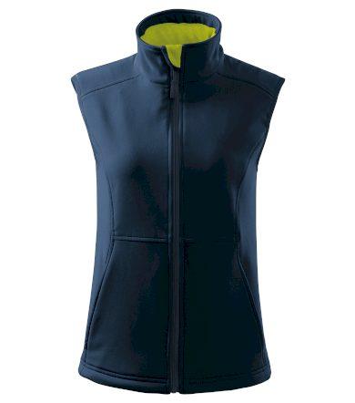 Malfini Vision Dámská softshellová vesta 51602 námořní modrá S