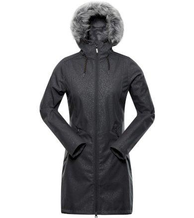 ALPINE PRO PRISCILLA 4 INS. Dámský softshellový kabát LCTS100779 tmavě šedá XL