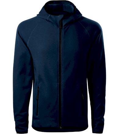 Malfini Direct Pánská fleece mikina s kapucí 41702 námořní modrá XL