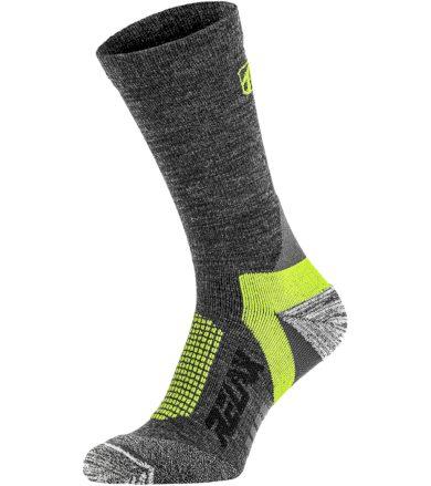 RELAX NORDIC Lyžařské ponožky - merino RSO37 tmavá šedá S