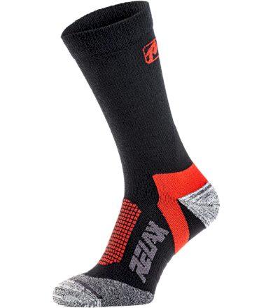 RELAX NORDIC Lyžařské ponožky - merino RSO37B černá/červená S