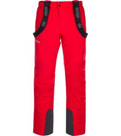 KILPI Pánské lyžařské kalhoty - větší velikosti MIMAS-M LMX033KIRED Červená 4XL