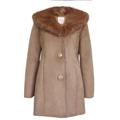 Lee Cooper Faux Suede Parka Dámský kabát 66111099 SD_18 (XXL)