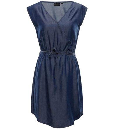 ALPINE PRO LANA Dámské šaty LSKT286602 mood indigo M