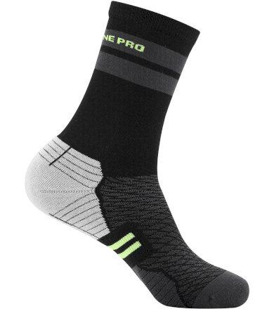 ALPINE PRO ADRON 3 Unisex ponožky USCT051530 reflexní žlutá S