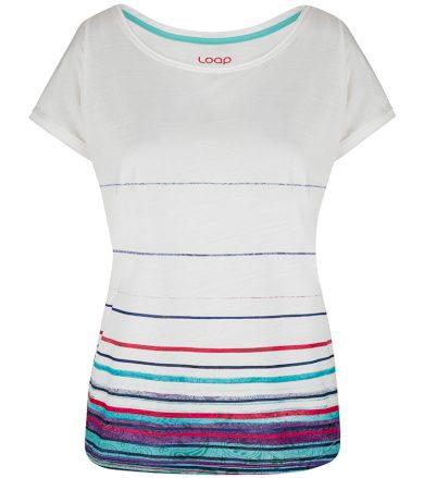 LOAP ALBY Dámské tričko CLW2061A14K bílá/fialová S