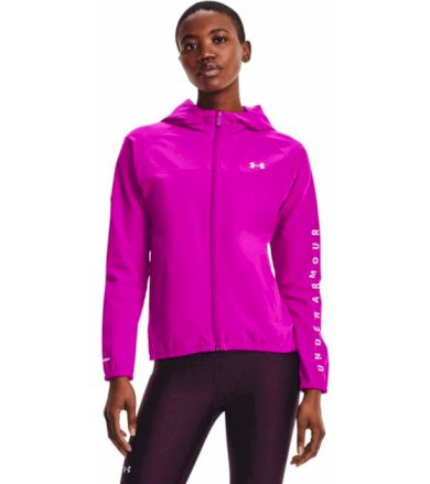 Under Armour Woven Hooded Jacket Dámská mikina 1351794-660 Meteor Pink S