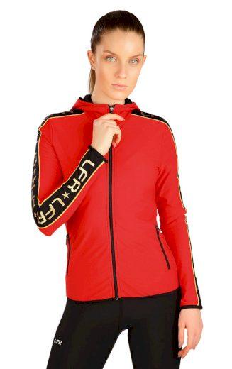 LITEX Mikina dámská s kapucí J1282306 červená S