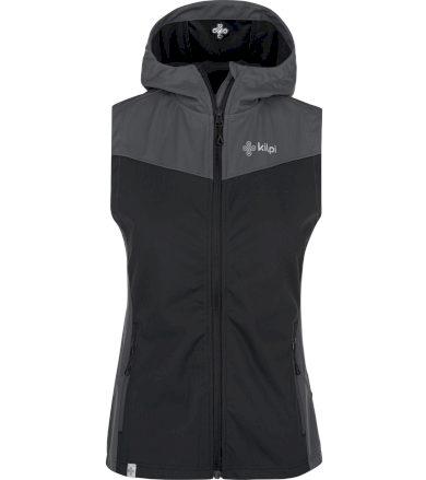KILPI Dámská softshellová vesta - větší velikosti CORTINA-W PLX017KIBLK Černá 52