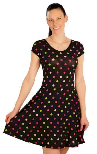 LITEX Šaty dámské s krátkým rukávem 5A416888 puntík L