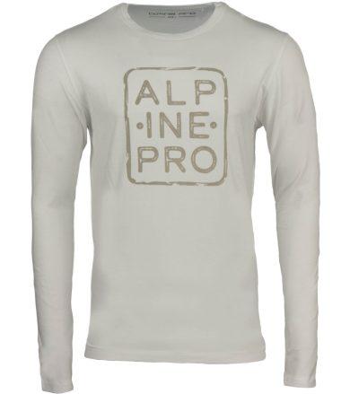 ALPINE PRO BRIGER Pánské triko dlouhý rukáv MTSP517000G bílá S