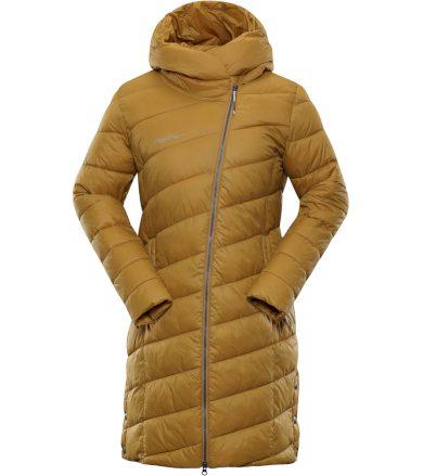 ALPINE PRO OMEGA 3 Dámský zimní kabát LCTP102115 mustard M-L