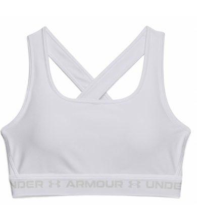 Under Armour UA Crossback Mid Bra Dámská kompresní podprsenka 1361034-100 White M