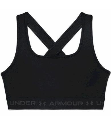 Under Armour UA Crossback Mid Bra Dámská kompresní podprsenka 1361034-001 Black L