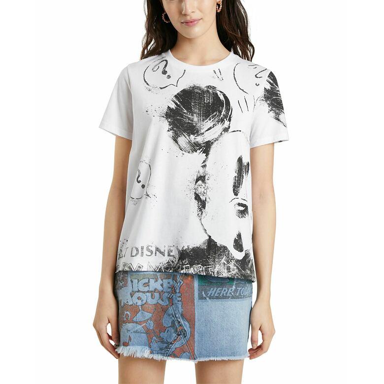 Dámské tričko  DESIGUAL MICKEY 1000 BLANCO BLANCO XL