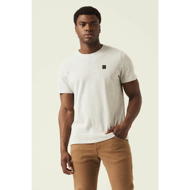 Pánské triko GARCIA mens T-shirt ss white melee M