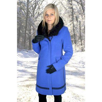 Dámský zimní kabát MARLENE ML ZDENKA modrá modrá velikost 38