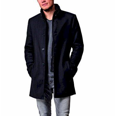 Pánský kabát BROADWAY 20102866 010-0203ME COAT 010-0203ME tm.šedý melír 010-0203ME tm.šedý melír XL