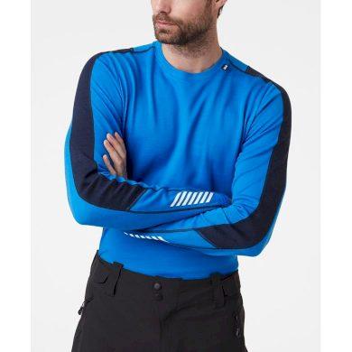 Pánské funkční triko HELLY HANSEN LIFA MERINO LIGHTWEIGHT CREW 639 ELECTRIC BLUE ELECTRIC BLUE L