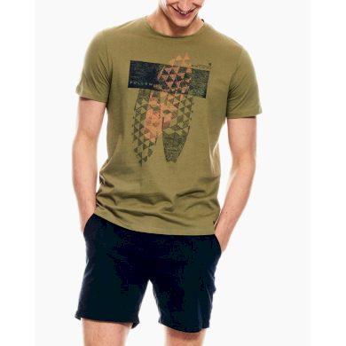 Pánské triko GARCIA T-shirt Washed Army L