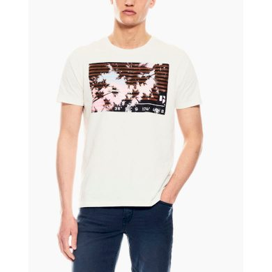 Pánské triko GARCIA T-shirt Off White L