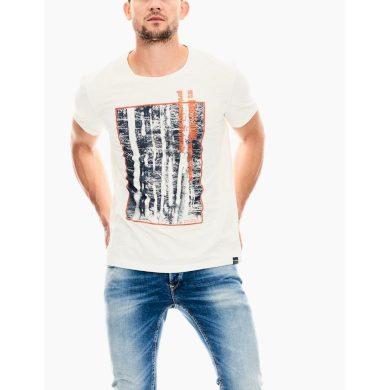 Pánské triko GARCIA T-shirt Off White M