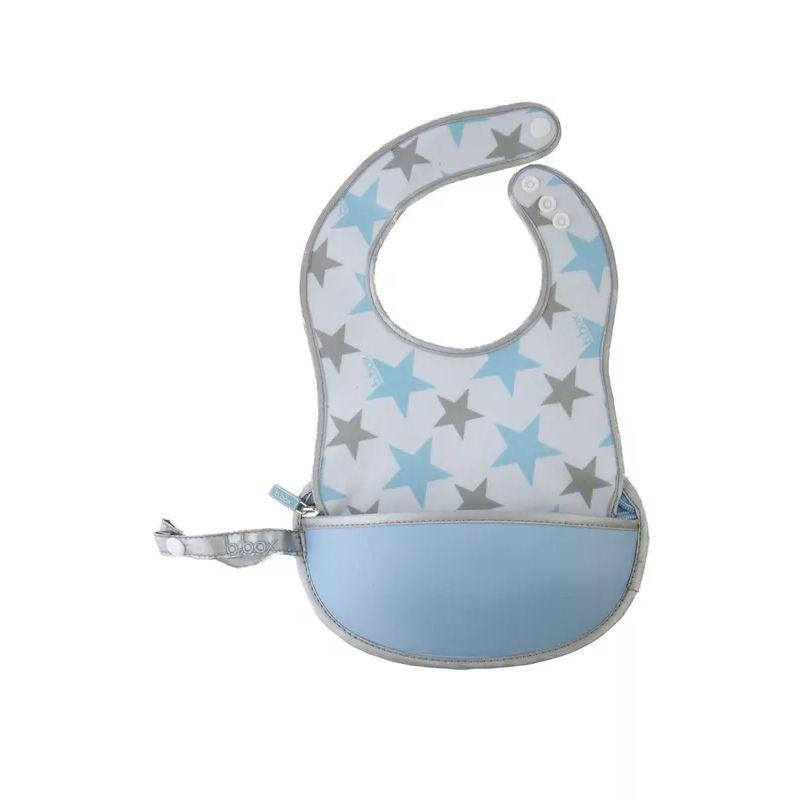 B.BOX Cestovní bryndáček se lžičkou - hvězdičky modrá