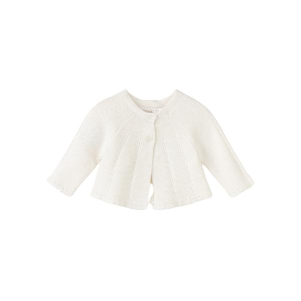 MAYORAL dívčí pletené bolero bílá