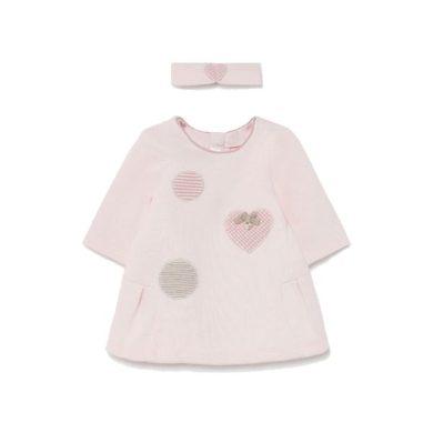 MAYORAL dívčí šaty s čelenkou DR srdíčka růžová