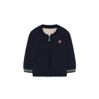 MAYORAL chlapecký oboustranný svetr na zip tmavě modrá