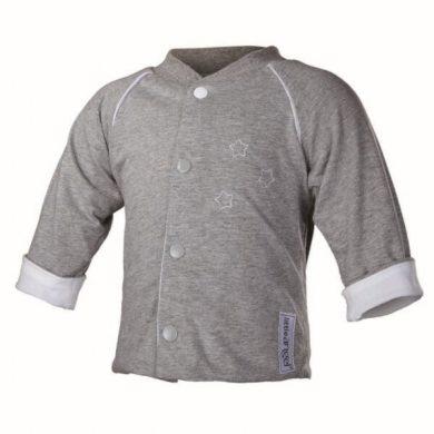 Kabátek oboustranný Outlast®, barva šedý melír/bílá