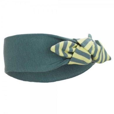 Čelenka smyk Outlast®, barva khaki/pruh limetkový