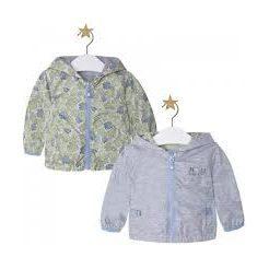 MAYORAL chlapecká oboustranná bunda bush - šedá, zelená