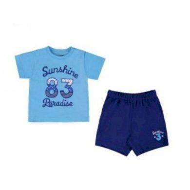 Mayoral chlapecký set triko a kraťasy - modrý